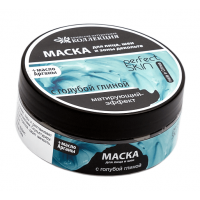 Маска для лица с голубой глиной Матирующий эффект, 150 г