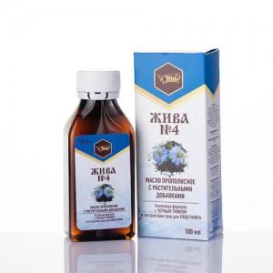 Масло на травах ЖИВА №4 для кишечника, 100 мл