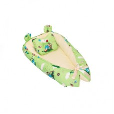 Кокон гнездышко для новорожденных Бэби-гнёздышко Люкс 60x90 с подушкой