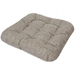 Подушка для йоги и медитации Нирвана с лузгой гречихи, 40х40 см,