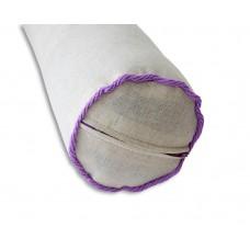 Валик с лузгой гречихи и лавандой, 40*10 см